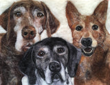 Wool custom peronalized pet portrait by Sarah Vaci
