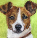Custom pet portrait jack Russell terrier portrait by Sarah Vaci