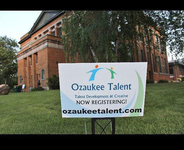 Ozaukee Talent Sign in Front of NSAA Building in Grafton at 1111 Broad Street