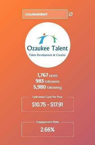 ADVERTISING:  Sponsored Instagram Posts on Ozaukee Talent