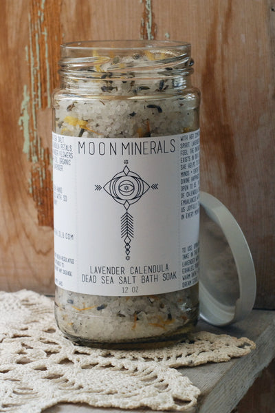 lavender calendula dead sea salt bath soak