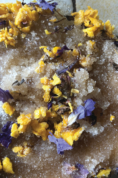 mango + blue lotus raw sugar body scrub
