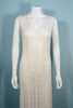 1960s crochet sleeveless dress