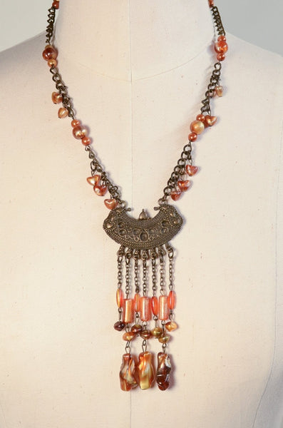 Vintage Style Boho Chandelier Pendant Necklace Costume Jewelry