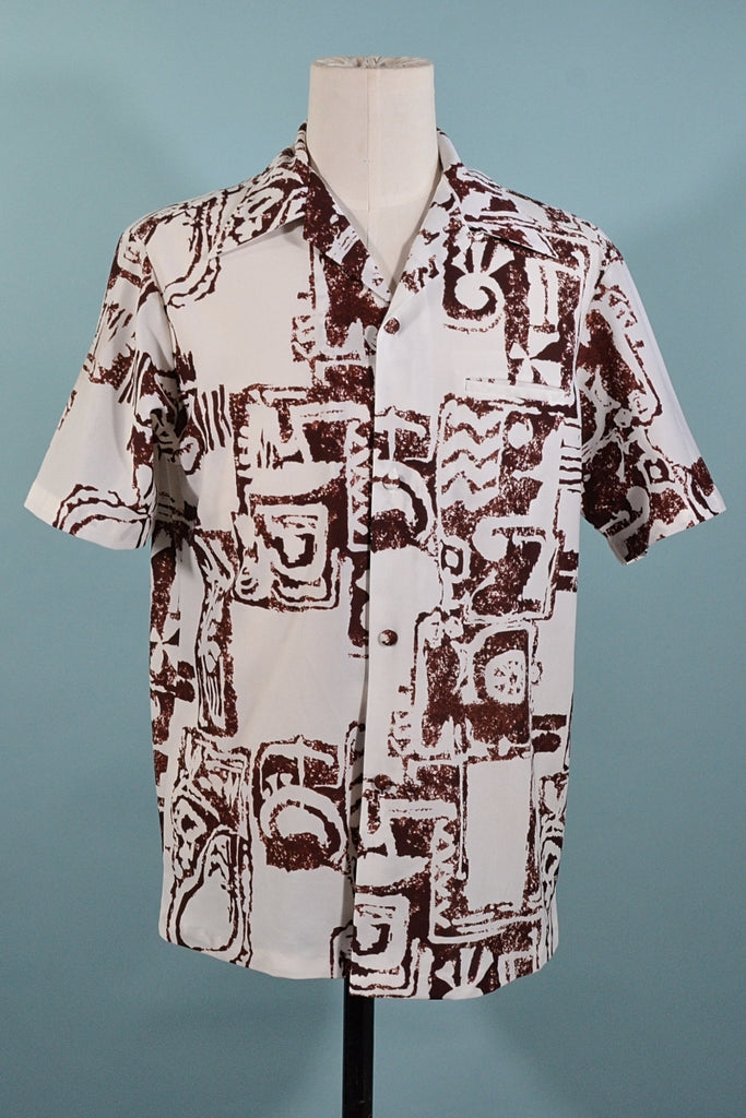 Vintage 60s/70s  Hawaiian Aloha Shirt, Sears Hawaiian Fashions M