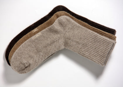 these socks are fluffy and naturally insulated wool helps keep your feet warm, but remains breathable.