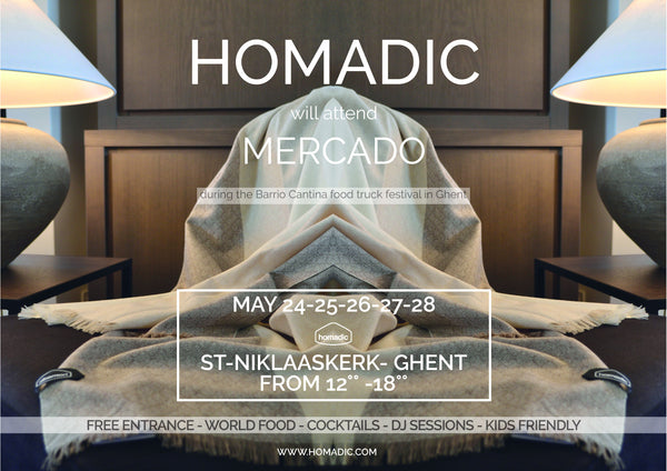homadic event in Gent, mercado 2017