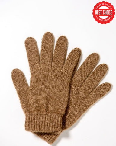 Camel wool gloves - beige - Homadic