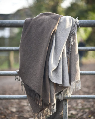 Yak wool throw - Homadic