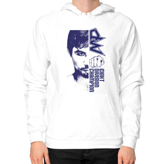 Hoodie (on man) White Pacquiao Gear