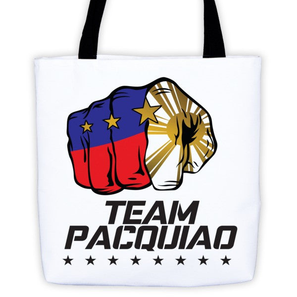 Team Pacquiao tote bag