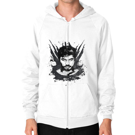 Weatherd Logo Zip Hoodie (Mens) White Pacquiao Gear