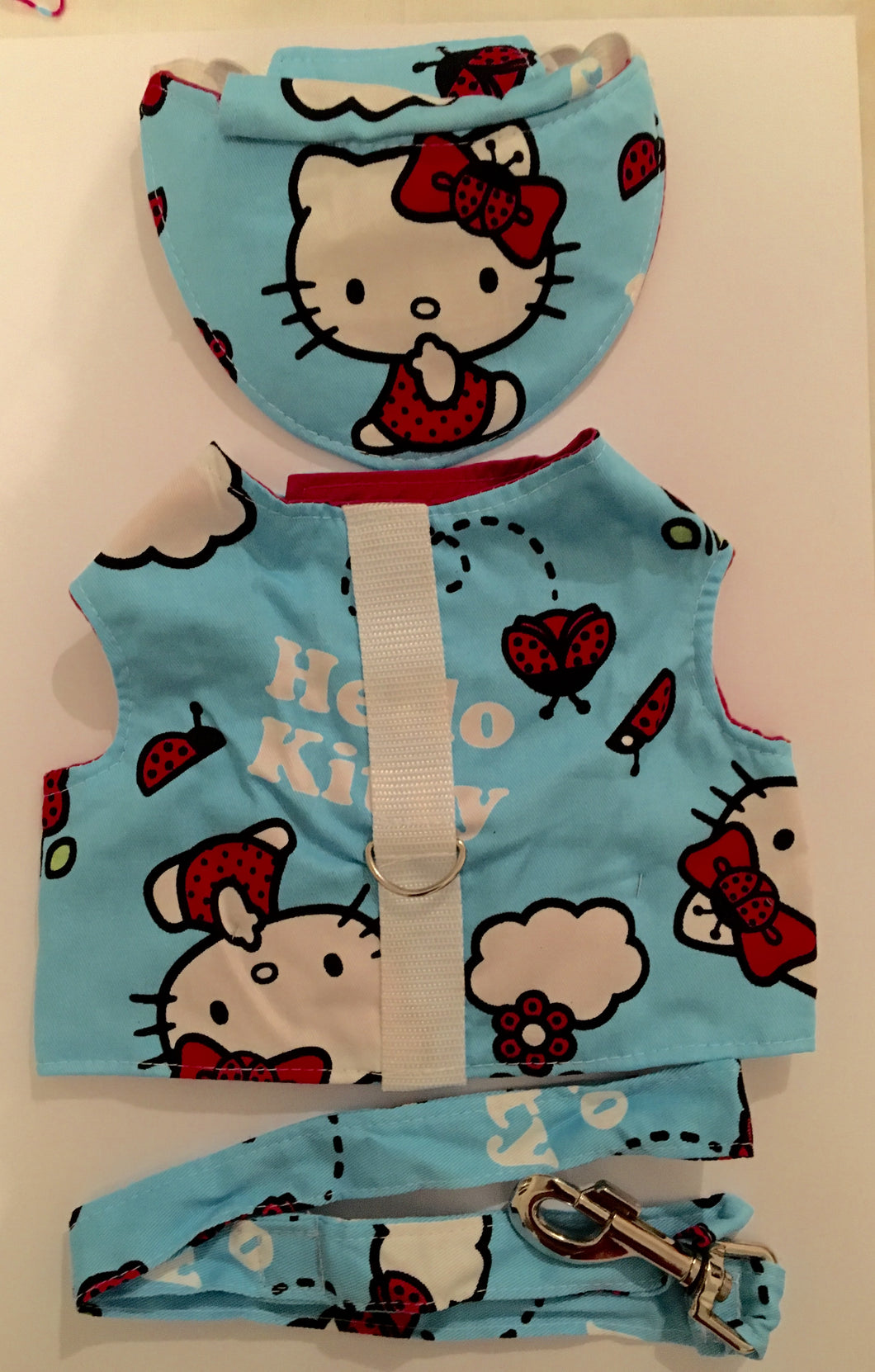 Kitty Print Harness, Hat & Lead set