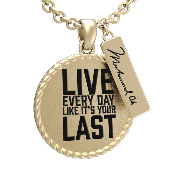Muhammad Ali™ Round Pendant with Inspirational Quote - Choose Your Ali Quote