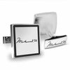 Licensed <b>Muhammad Ali™</b> Square Cufflinks with a Black Border and Signature