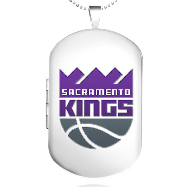 Sacramento Kings Dog Tag Shaped Locket