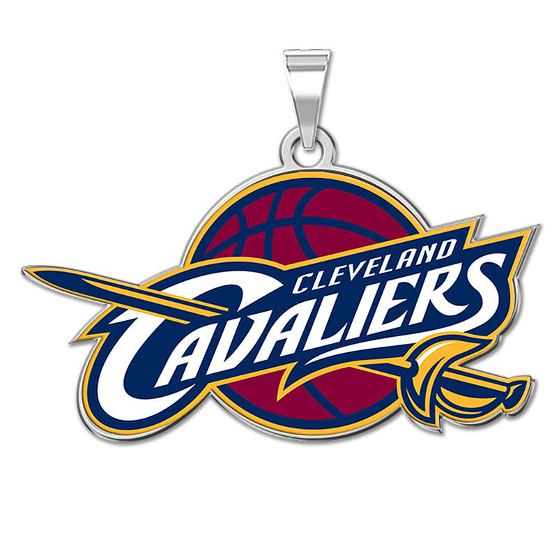 Cleveland Cavaliers Color Logo Outline Pendant