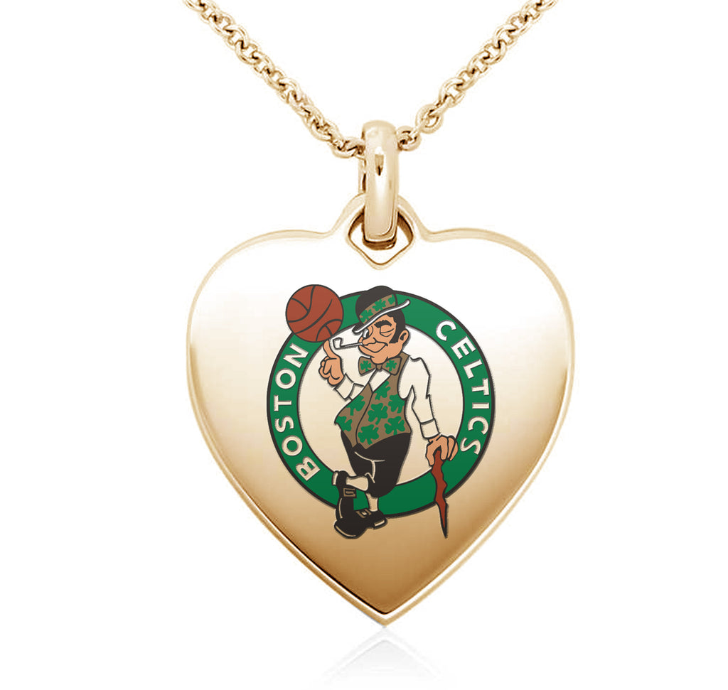 Boston Celtics Heart Shaped Pendant