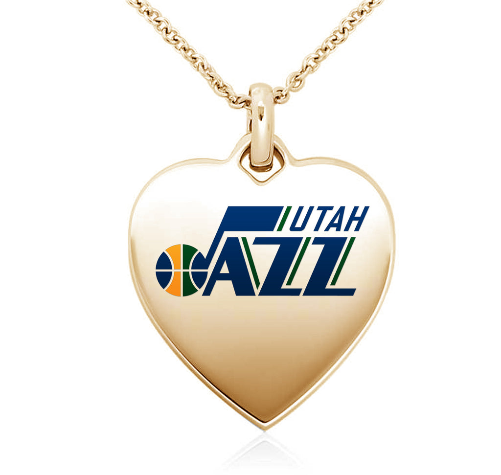 Utah Jazz Heart Shaped Pendant