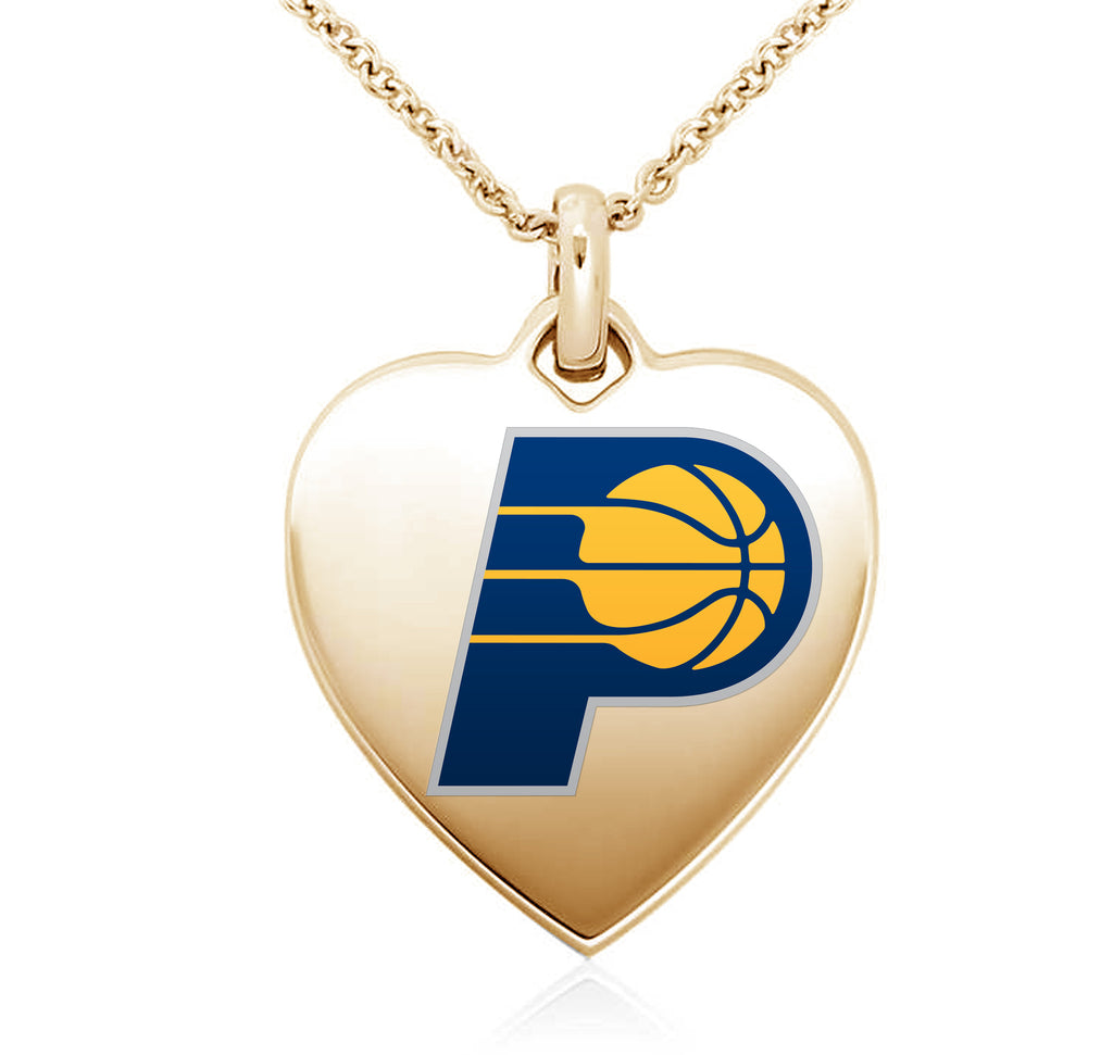 Indiana Pacers Heart Shaped Pendant