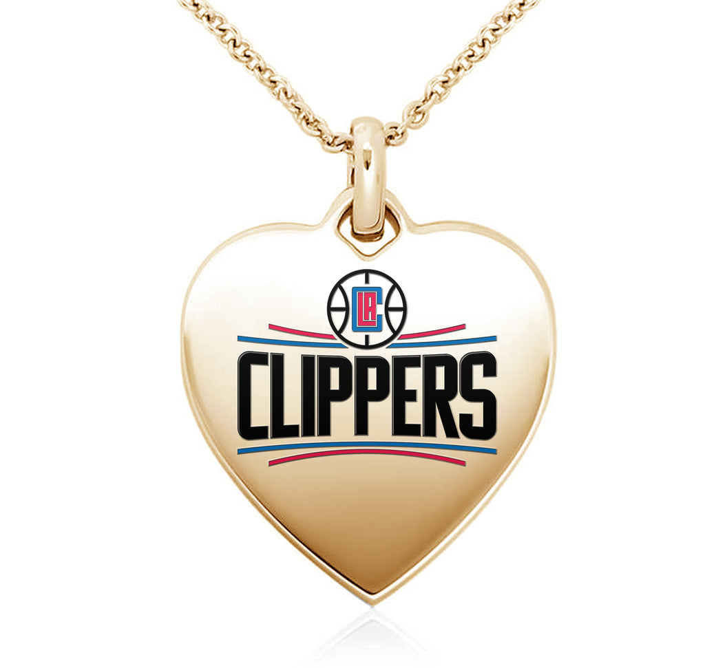 Los Angeles Clippers Heart Shaped Pendant