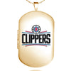 Los Angeles Clippers Dog Tag Shaped Locket