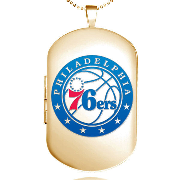 Philadelphia 76ers Dog Tag Shaped Locket