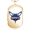 Charlotte Hornets Dog Tag Shaped Locket