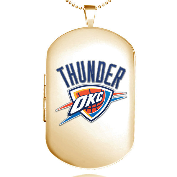 Oklahoma City Thunder Dog Tag Shaped Locket