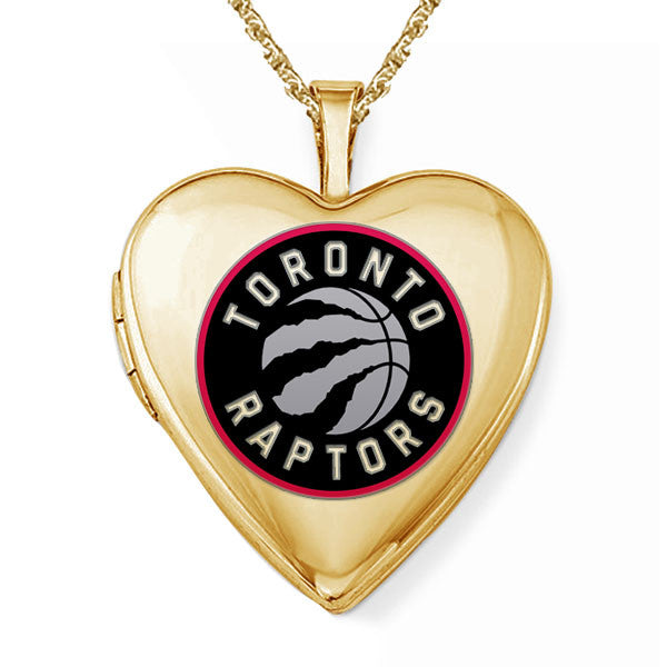 Toronto Raptors Heart Shaped Locket