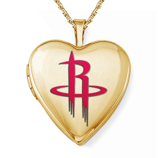 Houston Rockets Heart Shaped Locket