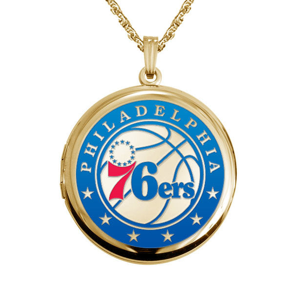 Philadelphia 76ers Round Shaped Locket