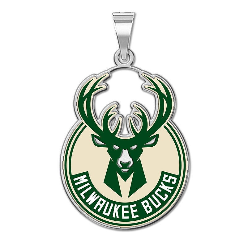 MIlwaukee Bucks Color Logo Outline Pendant