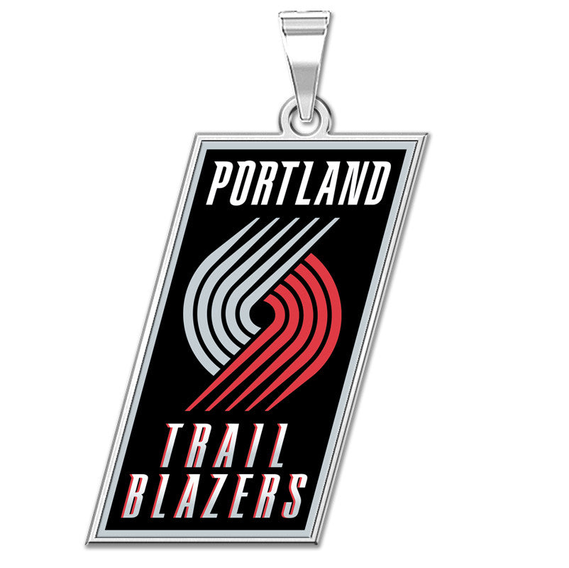 Portland Blazers Color Logo Outline Pendant