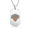 New York Knicks Dog Tag Shaped Pendant