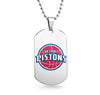 Detroit Pistons Dog Tag Shaped Pendant