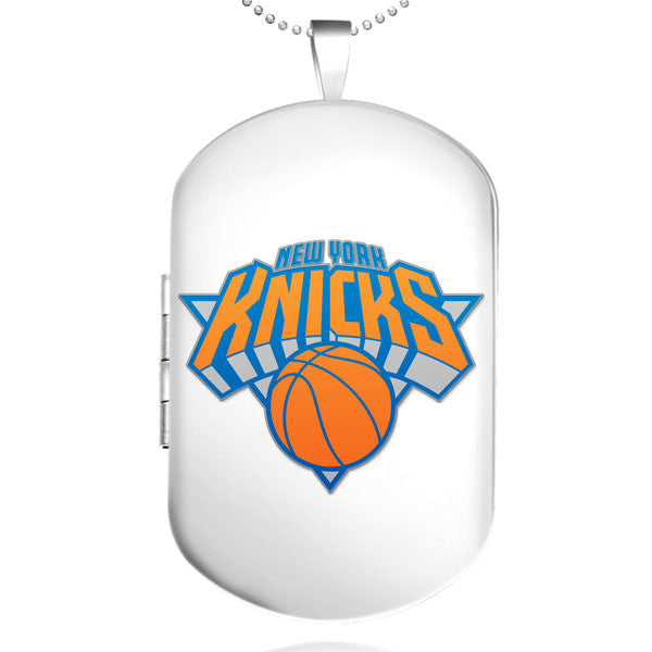 New York Knicks Dog Tag Shaped Locket