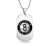 Brooklyn Nets Dog Tag Shaped Pendant