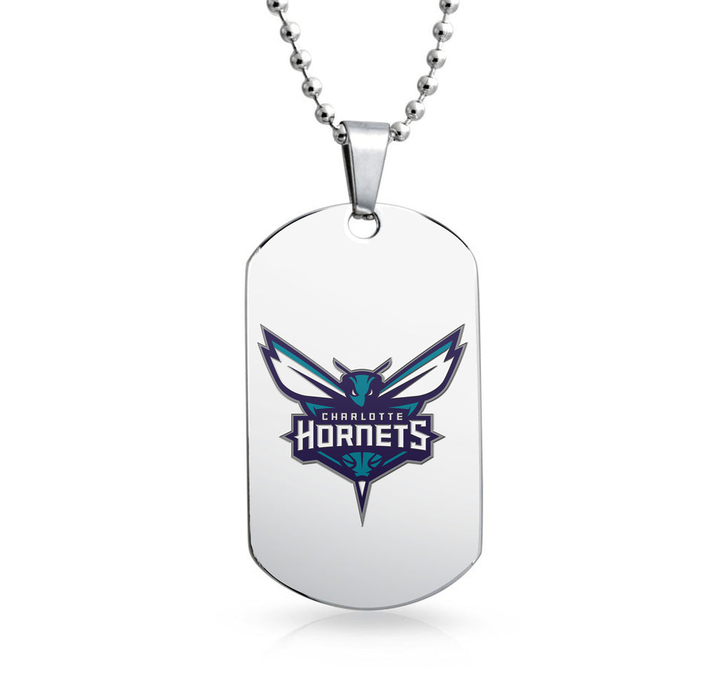Charlotte Hornets Dog Tag Shaped Pendant
