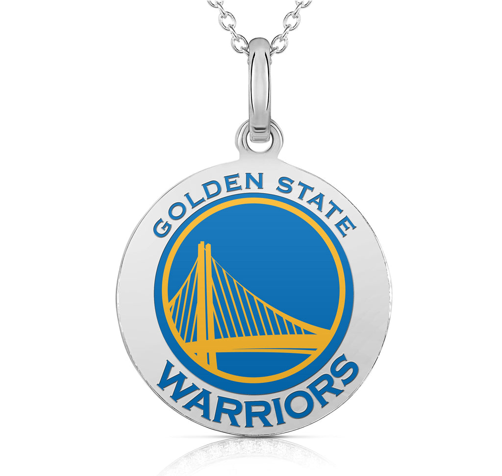 Golden State Warriors Round Shaped Pendant