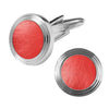 Licensed <b>Muhammad Ali™</b> Round Cufflinks with Bezel Trim and Authentic Boxing Glove Insert