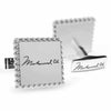 Licensed <b>Muhammad Ali™</b> Square Cufflinks with a Rope Border and Signature