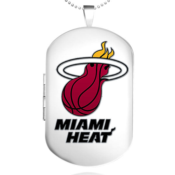 Miami Heat Dog Tag Shaped Locket