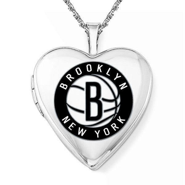 Brooklyn Nets Heart Shaped Locket