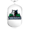 Minnesota Timberwolves Dog Tag Shaped Locket