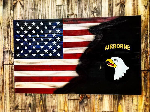American with Torn in 101st Airborne Insignia