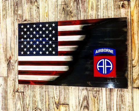 American with Torn in 82nd Airborne Insignia