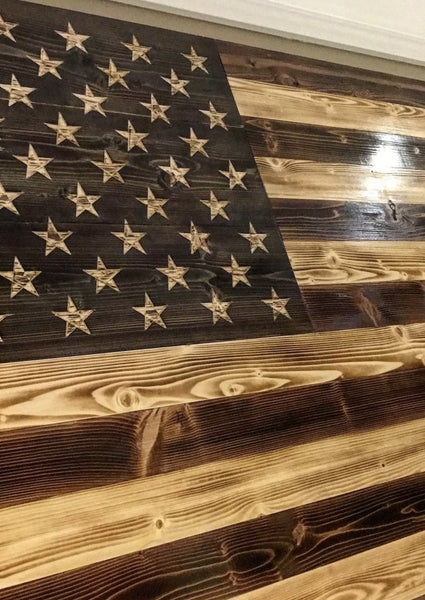 Charred Antique The Rustic Flag Company