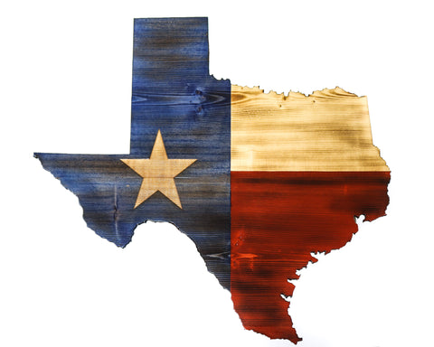 Charred Texas State Cutout