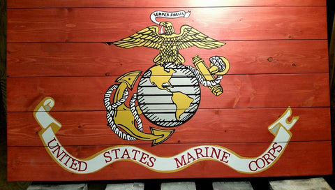 Rustic Marine Corps Branch Flag